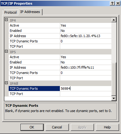 5. In the details pane, right-click on TCP/IP, and click Properties. 6. On the TCP/IP Properties page, click on the IP Addresses tab. 7.
