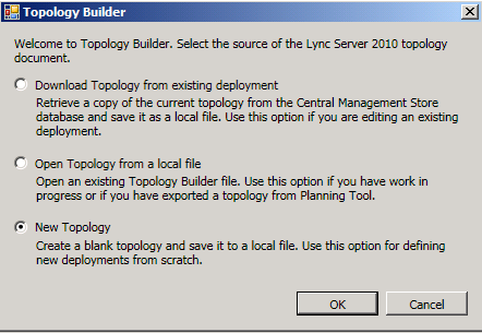 Define the Topology for Lync 2010 Enterprise Edition Front End Pool in Topology Builder Now we have all of the infrastructure preparation complete, so it s time to move on to defining the topology