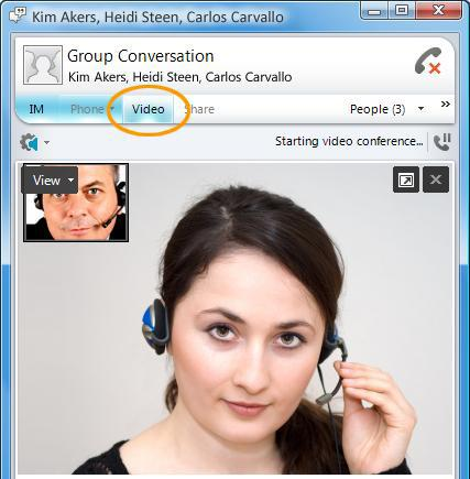 Lync Basics Accept a Video Call If you don t have a webcam you can view the caller s video feed and the caller will see a video icon placeholder for your feed.
