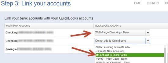 4. After you connect, you will see all of your Pacific Premier Bank accounts that you can add to QuickBooks.