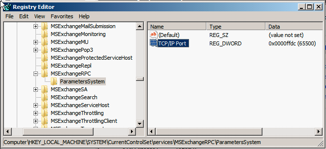 Figure 1: Create the static port mapping for RPC
