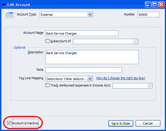 how to create chart account in quickbooks for fruits