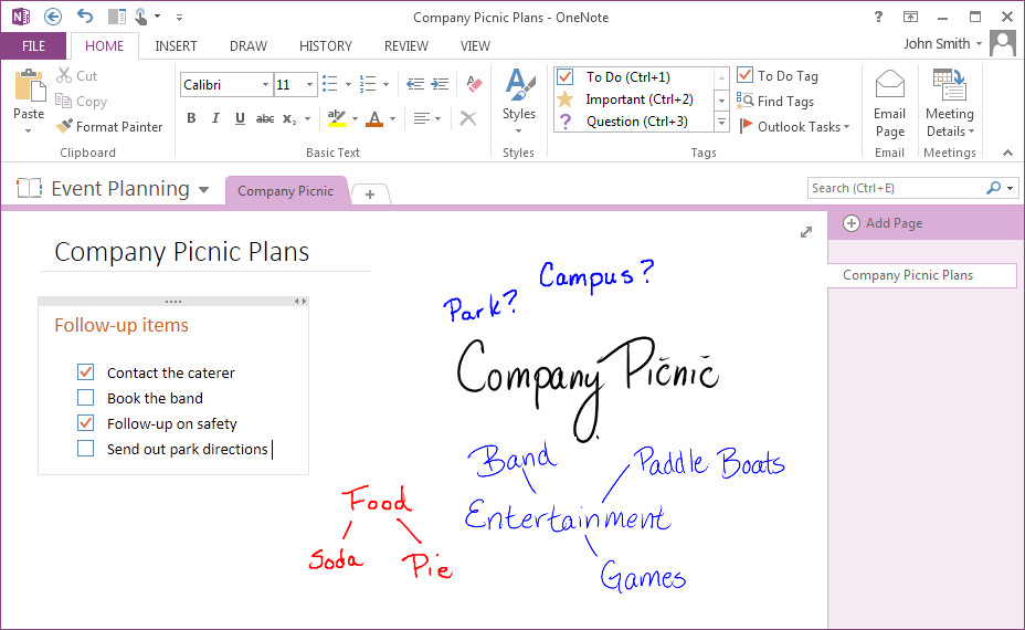 Quick Start Guide Microsoft OneNote 2013 looks different from previous versions, so we created this guide to help you minimize the learning curve.