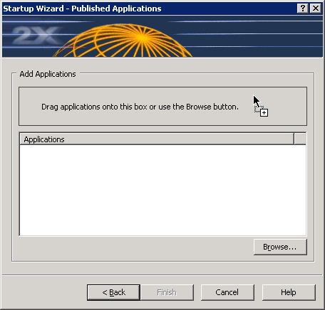 Add Applications Click on the Browse button and select the Executable (.exe) file of the application that you would like to publish. You can also drag and drop an executable (.
