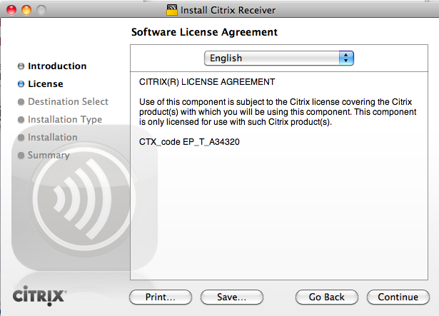 To set up Citrix receiver settings click continue. 7.