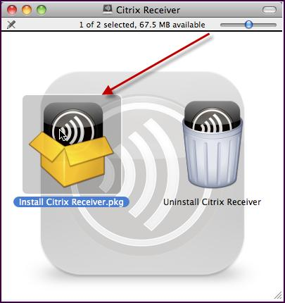 MAC OSx Installation Citrix Receiver OSx 11.