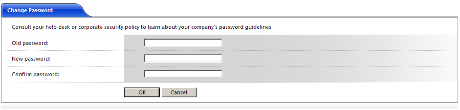 (Figure 5) Figure 5 Passwords The first time you log in, you will need to create a new password and after 90 days.