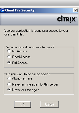 7. Click on a Cerner Millennium Application (e.g. Powerchart) (Figure 9) Figure 9 The first time you click on an application you will get the following Citrix Client File Security pop up window.