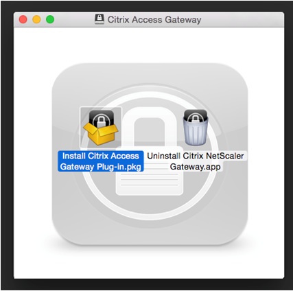 "INSTALLING NETSCALER GATEWAY Double click the ""Citrix_Access_Gateway."