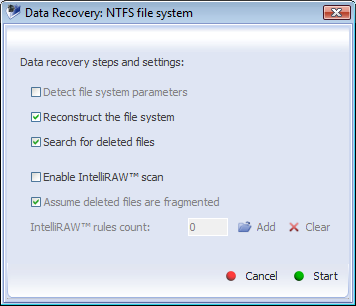 IV. Data recovery 51 in Partition selection view with: - Recover button from Tool bar in Partition selection view - Recover lost data option in context menu of an active partition - Recover lost data