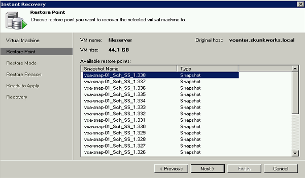VM recovery via HP StoreVirtual snapshots In the previous chapters, I explained how to create SAN-based snapshots of VMs and make them available directly inside Veeam Backup & Replication.