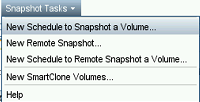 Configure HP StoreVirtual snapshots In the previous chapter, I showed you how to check and properly configure your environment to be sure you can safely use storage snapshots.