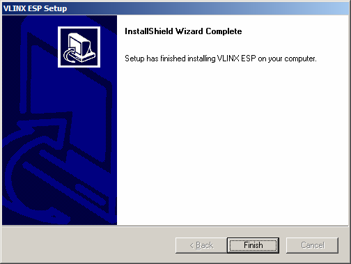When the installation is complete the Install window closes allowing the user to access the management software in the program files.