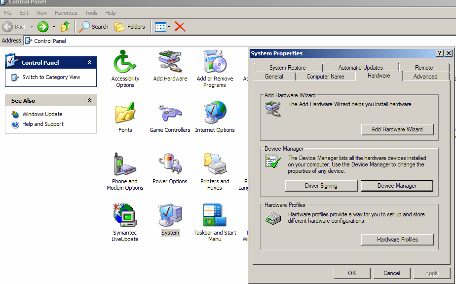 Removing the Virtual COM Port using Device Manager The screen shots were taken from a Windows XP operating system 1.
