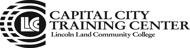 Lincoln Land Community College Capital City Training Center 130 West Mason Springfield, IL 62702 217-782-7436 www.llcc.