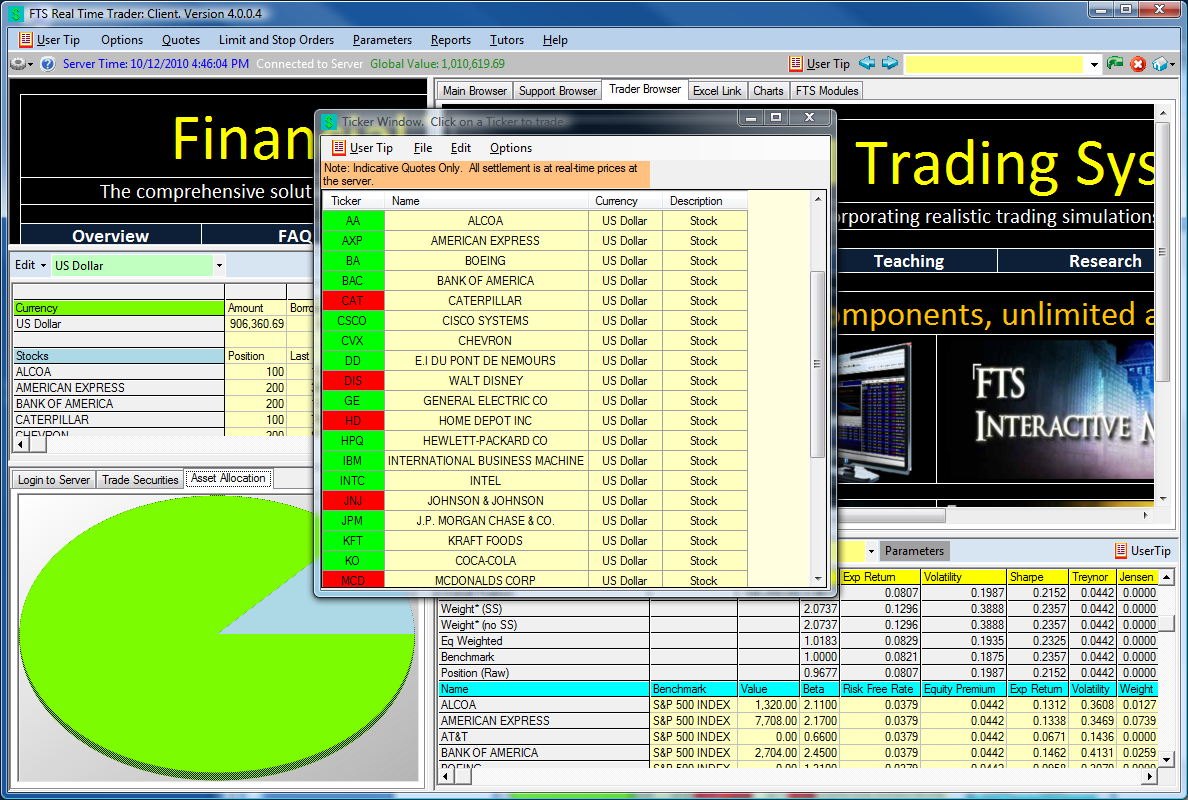 Details: Submitting Market Orders and Limit Orders Market orders are submitted in the Trade Securities Tab on the bottom left of the screen.