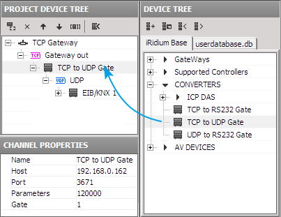25 You need to indicate properties of connection to your PC (server) with the running iridium Gate application in the gateway settings: Name a gateway name Host an IP-address of PC with the running