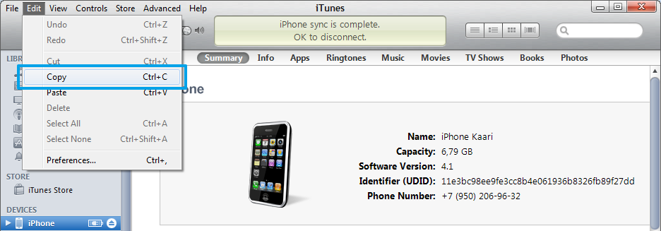 31 Besides, UDID of the ios device can be copied from the itunes application.