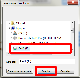 Installation & Configuration 23 In Repositorio we must select the repositorio folder, it can be in drive c:\repositorio (if this is a server) or