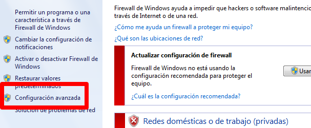 4 Then to Firewall
