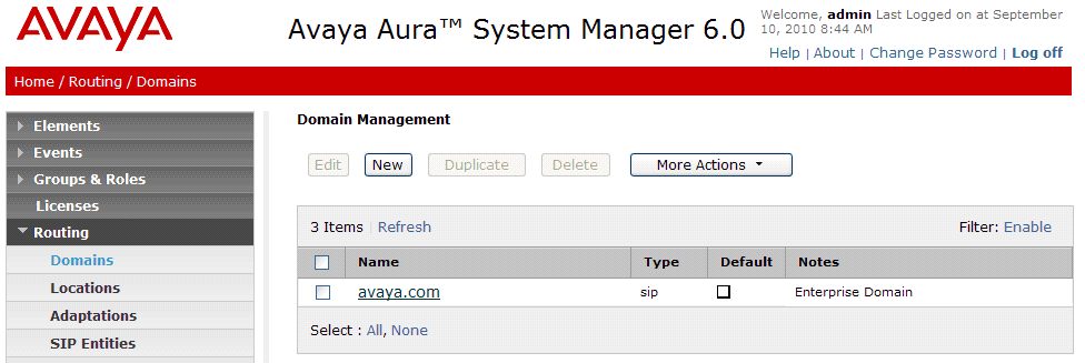 5. Configure Avaya Aura TM Session Manager This section provides the procedures for configuring Session Manager.