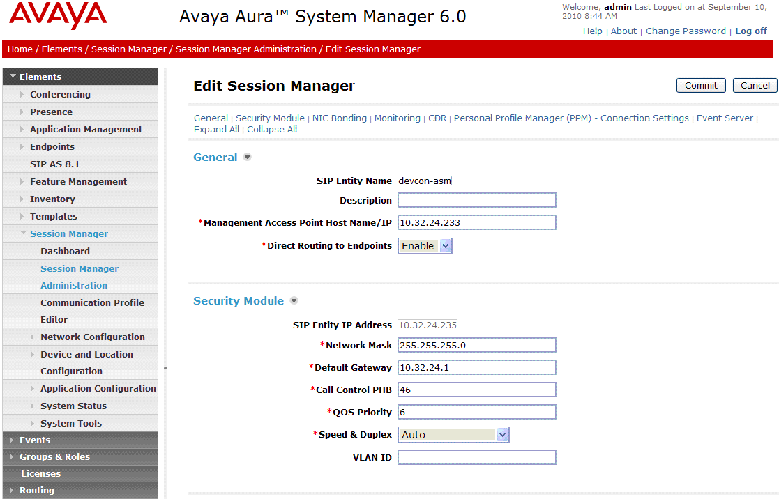 5.8. Add Avaya Aura Session Manager To complete the configuration, adding the Session Manager will provide the linkage between System Manager and Session Manager.