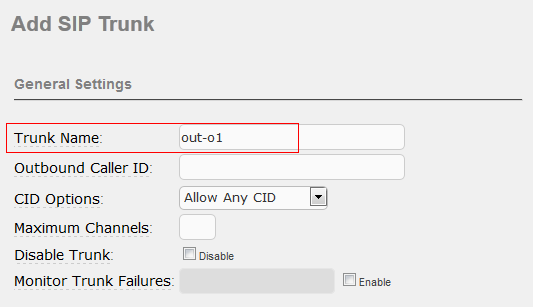 A4. Go to PBX-->Trunks page, click Add SIP Trunk to add one. A5.