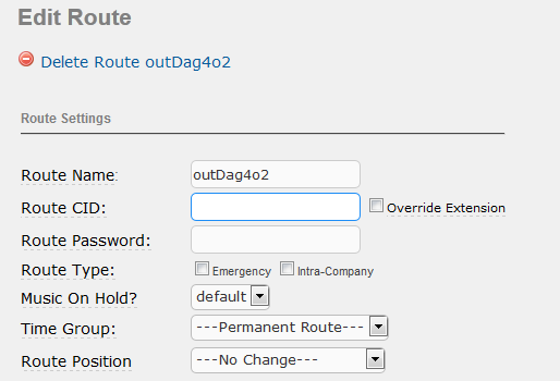 2) Set outbound route