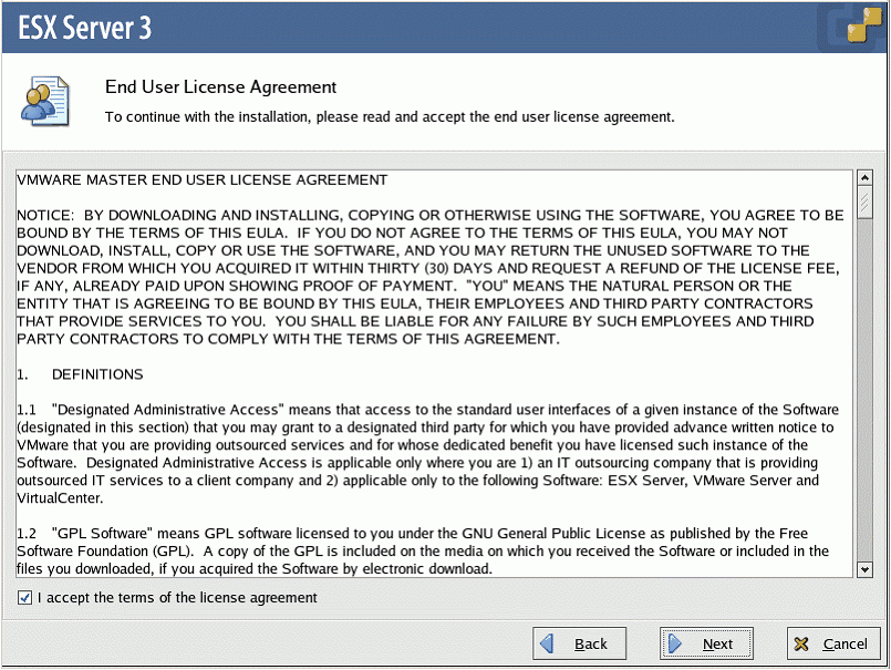 End User License Agreement dialog appears.