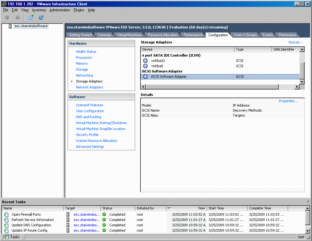 Select iscsi Software Adapter.