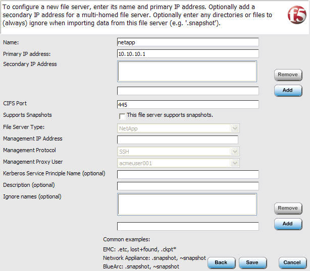 Figure 4.9 Creating a Volume 6. From the Metadata file server protocol list, select an appropriate protocol. In our example, we select NFSv3-UDP. 7.