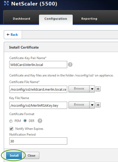 Specify a suitable Certificate-Key Pair Name to enable you to identify them. c.
