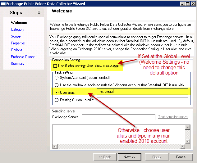 Exchange 2010 Data Collection For Microsoft Exchange Server 2010, all communication to the private and public stores must go through a Client Access Server.