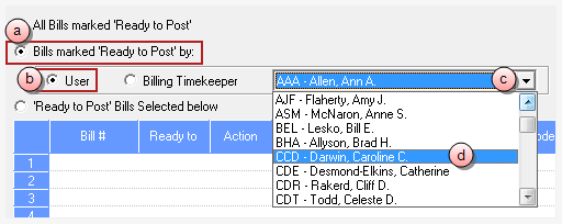b. Sort by the Ready To column. c. Scroll down to review all items with a Ready To status of 'POST'.