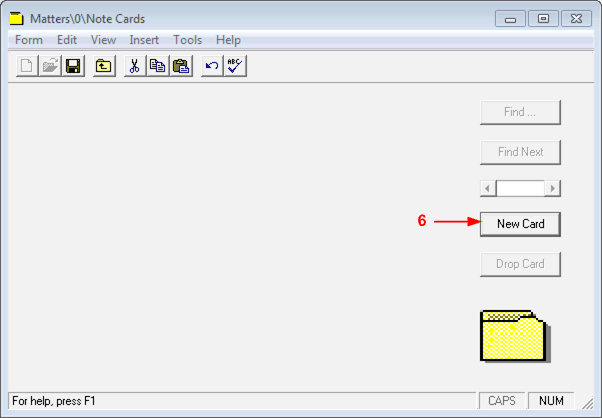 Assign a Note Card to a Matter To assign a Note Card to a Matter: 1. Launch the Juris application, and then select Tables, then Clients. 2. Select the client associated with the matter from the list.