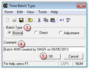 Record a Time Entry To record a new Time Entry: 1. Select Transactions > Time Entries. 2. Click the New icon on the toolbar.