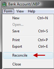 Description G/L Account 6. When the Unreconciled Difference is = 0, then the Reconcile option will become enabled.