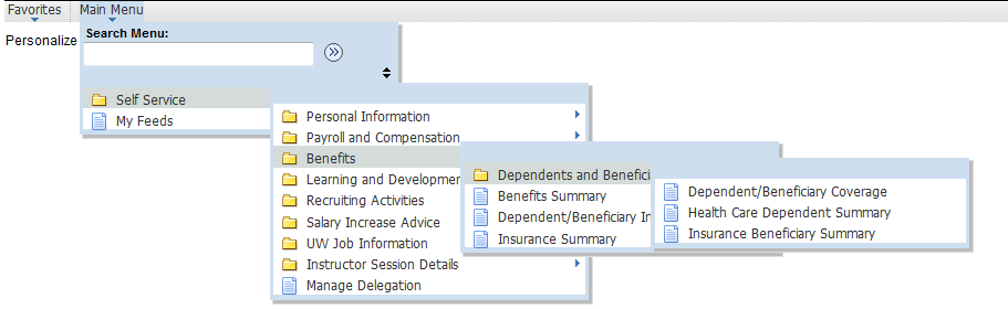 how to change personal information on myhrinfo