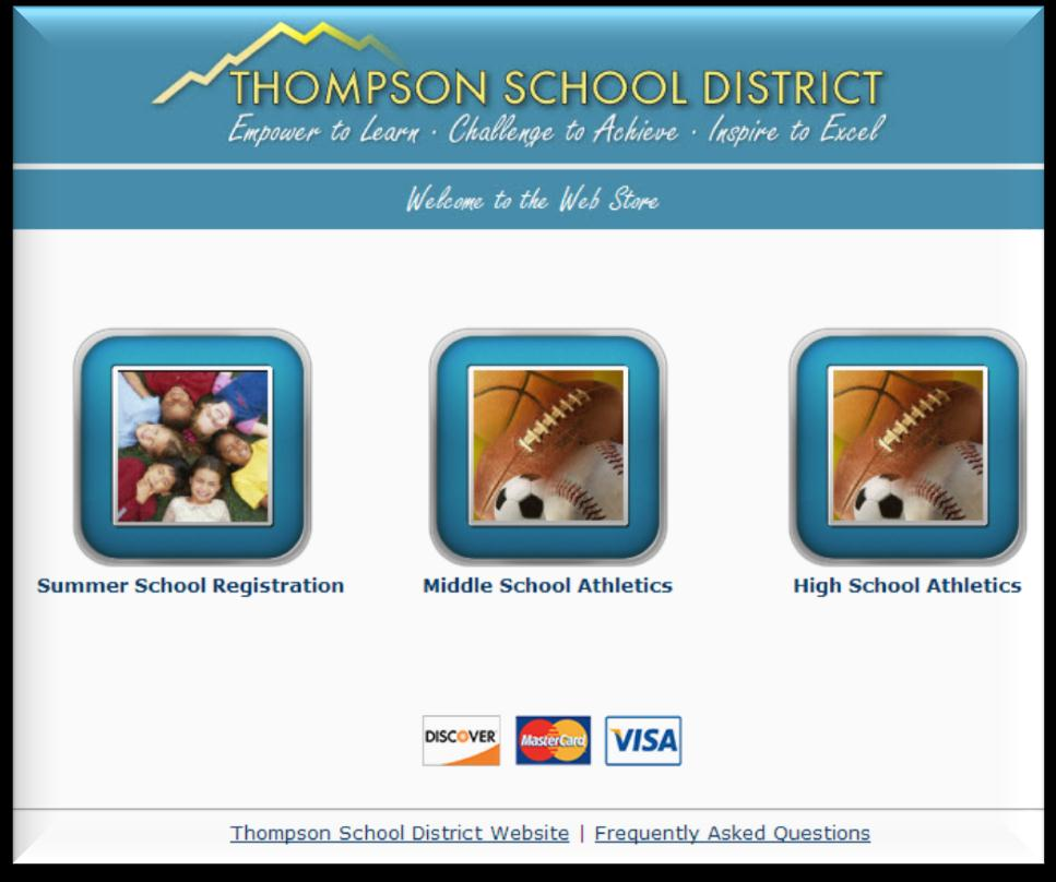 http://thompson.revtrak.net/ Online payment portal designed to allow parents to make quick and easy online payments to their children's athletic fees.