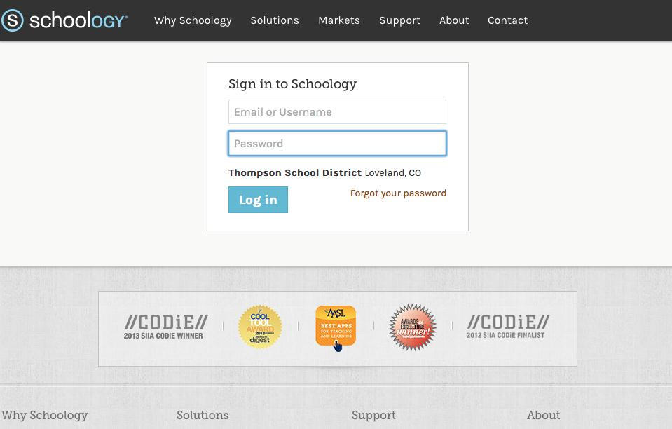 https://tsd.schoology.com/ Schoology is a learning management system that allows students access to assignments and assessments 24/7.