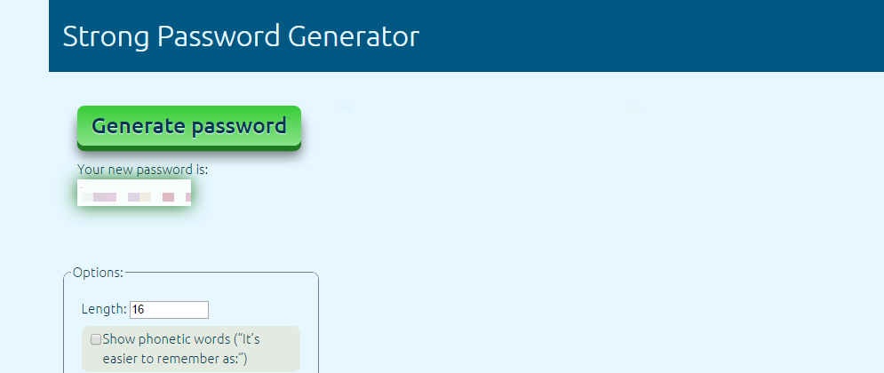 4. Enter the new password in the boxes New password and Retype Password and click on Update.