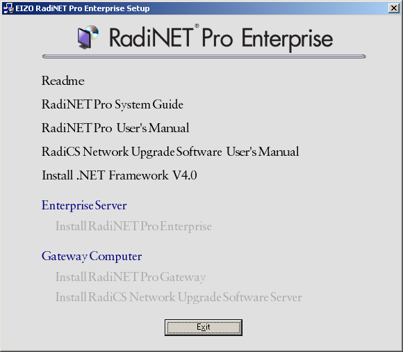 5-3. Installation of.net Framework Note For RadiNET Pro Web Hosting, if.net Framework V4.0 is not installed, follow the steps described in 5-4. Installation of RadiNET Pro Gateway (page 20) or 5-8.
