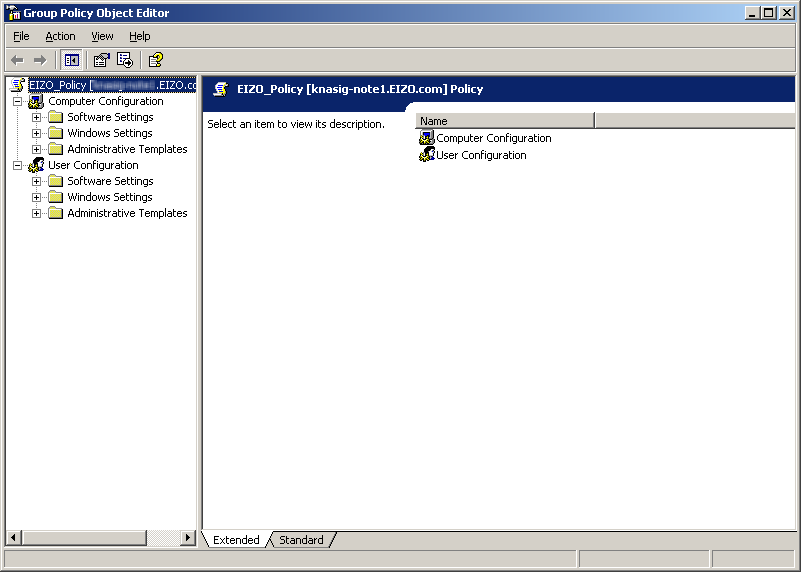 3. The Properties screen appears. Select the Group Policy tab. 4.