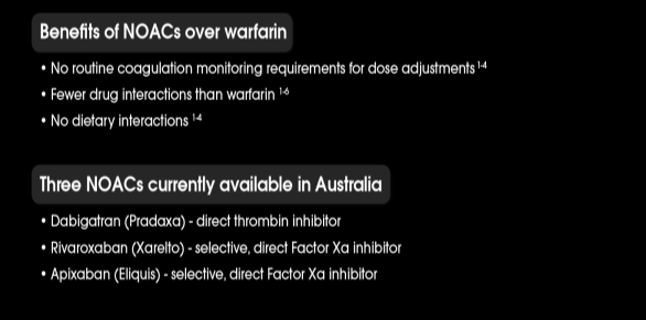 GUIDELINES RECOMMEND USING NOACs INSTEAD OF WARFARIN 1 ACCORDING TO THE 2012 ESC