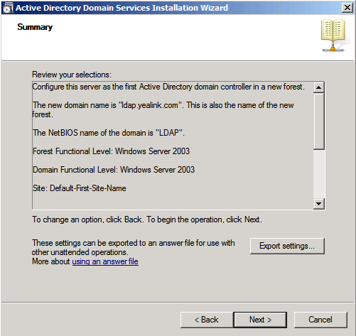 12. Configure the password for the active directory recovery mode, and click Next.