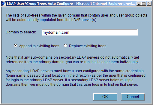 Configuring LDAP integration in SonicOS Enhanced Note When working with AD, to determine the location of a user in the directory for the User tree for login to server field, the directory can be