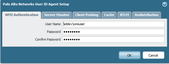 Click OK Map user name to IP address You can install and configure a User-ID agent on a Windows server in your environment or by enabling the native agent on the firewall.