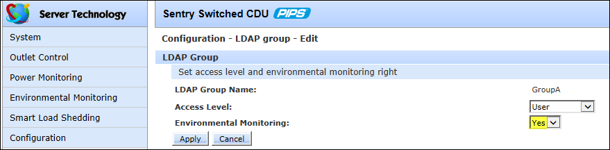 Step-by-Step LDAP Group Configuration Instructions: Create a new LDAP group... Type a descriptive name in the LDAP Group Name field, up to 24 alphanumeric characters, no spaces. Click Apply.