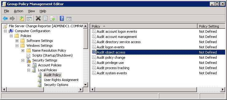 Figure 5: Group Policy Management 2. Expand the Domains node, right-click the <Company_Domain_Name> node and select the Create a GPO in this domain and Link it here option.