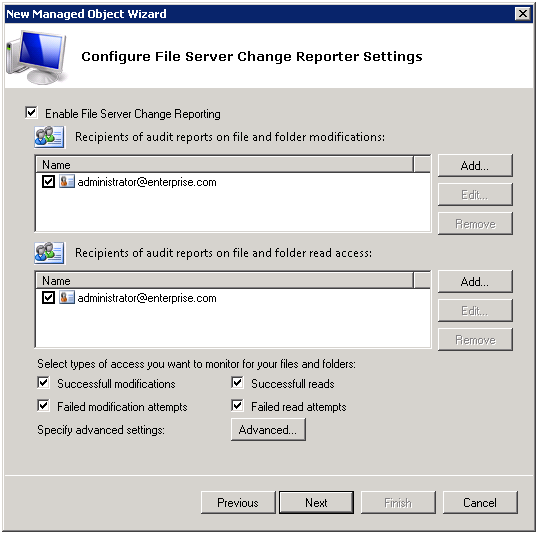 NetWrix File Server Change Reporter supports audit of DFS and clustered file servers.